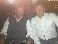 Kevin Costner and Slavisa Ivanovic
